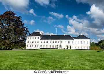 graasten, 城堡, 夏天, 住处, 在中, the, 皇家, danish, 家庭, 丹麦