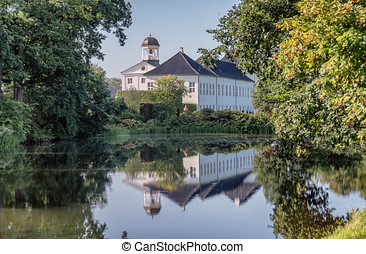 Graasten Castle summer residence of the royal Danish family, Denmark