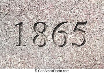 grabado, 1865, histórico, año