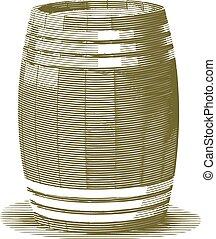 grabado, barril
