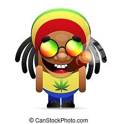 grabb, jamaikan, cigarett