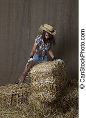 Grabbing a bale
