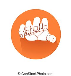Grabbing hand symbol