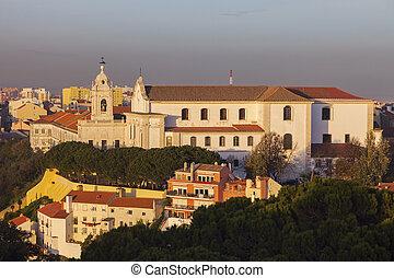 Graca Church in Lisbon. Lisbon, Portugal.