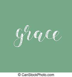 Grace. Brush lettering.