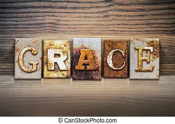 "Grace Concept Letterpress Theme - The word ""GRACE"" written..."
