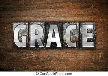 Grace Concept Metal Letterpress Type