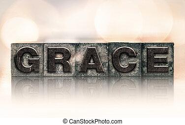 Grace Concept Vintage Letterpress Type