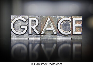 Grace Letterpress - The word GRACE written in vintage...