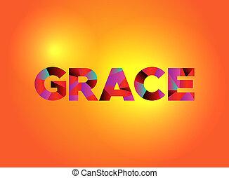 Grace Theme Word Art Illustration