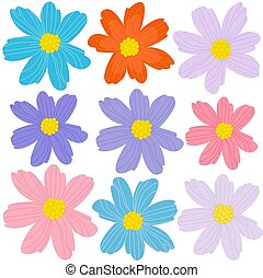 graceful collection of cute flowers for your design