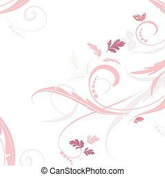 graceful floral background for your design