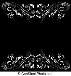 graceful floral frame for your design