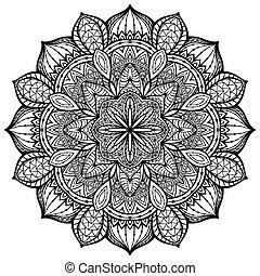 graceful, ornamental, vector, mandala on a white background...
