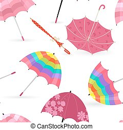 graceful seamless texture with pretty umbrellas for your design
