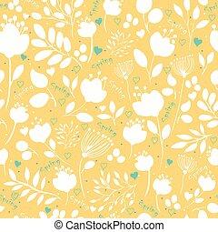 Graceful Spring Flowers. Vector Seamless Pattern