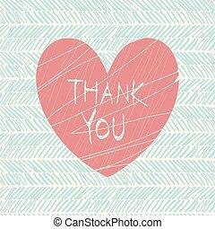 gracias, mano, empate, tarjeta