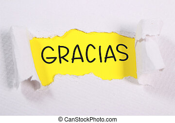Gracias, Motivational Words Quotes Concept