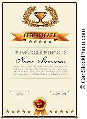 gracieux, certificat, gabarit