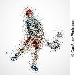 gracz, abstrakcyjny, golf