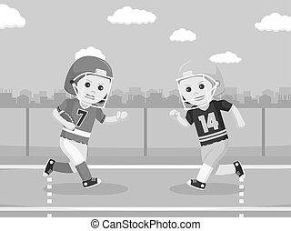 gracz, amerykańska piłka nożna, konfrontacja