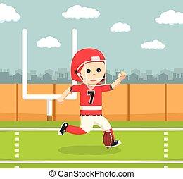 gracz, amerykańska piłka nożna, kopanie
