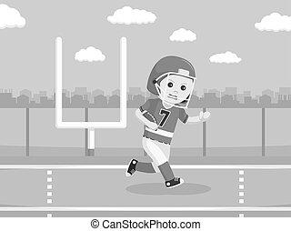 gracz, amerykańska piłka nożna, wyścigi