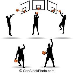 gracz, koszykówka, zbiór