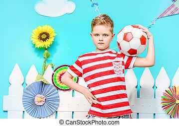 gracz, odważny, piłka nożna