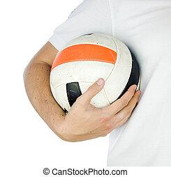 gracz, piłka, dzierżawa piłka nożna