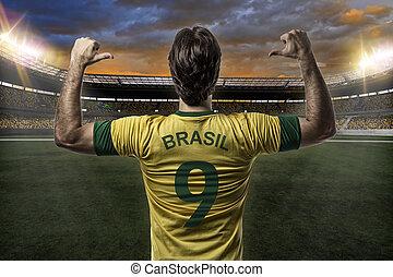 gracz, piłka nożna, brazylijczyk
