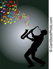 gracz, saksofon