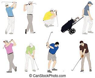 gracz w golfa, ilustracja