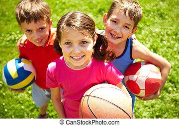 gracze, piłka nożna, młody