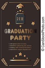 Grad 2018. festive poster on bubbly background.