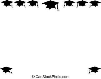 grad cap borders - mortar boards for graduation border and ...
