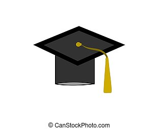 Grad Cap - A grad cap isolated on a white background.