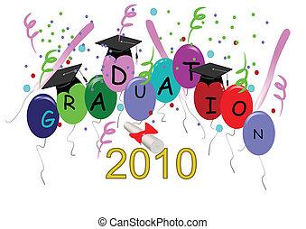 grad, celebração, cartão
