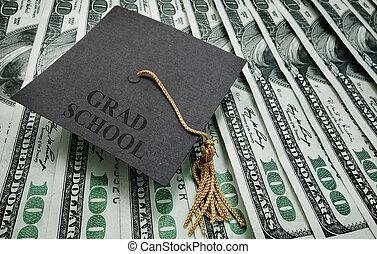 grad, escuela, dinero