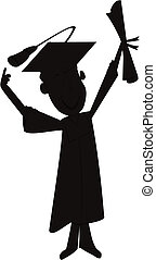 grad in silhouette