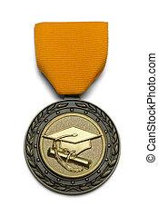 grad, medal, złoty