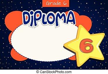 Grade diploma certificate template