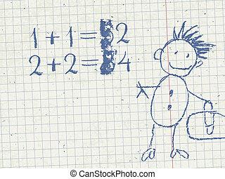 Grade school background, vector, EPS10