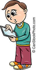 grade school boy cartoon illustration