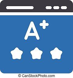 grade vector glyph colour icon