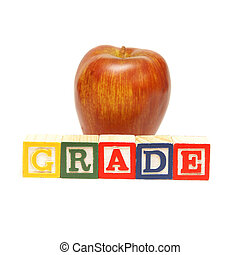 Grade Word - The spelling of the word grade using alphabet...