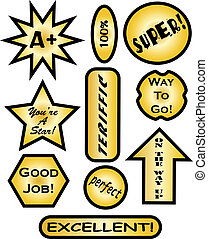 Graded Homework Stickers - Stickers for placement on...