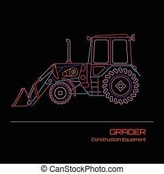 Grader vector illustration