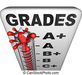 Grades on Thermometer Rising Past A+ Perfect Score