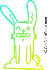 gradiens, karikatúra, üregi nyúl, hideg, rajz, egyenes